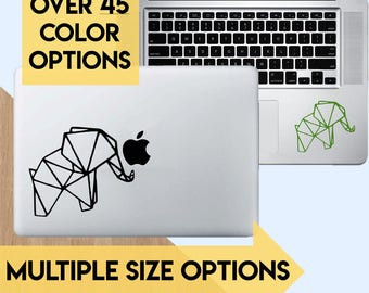 Elephant Laptop Decal Sticker | Animal | Origami |