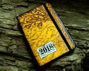 Book Calendar with vegan leather yellow