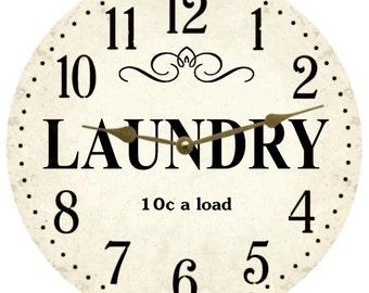 Laundry Clock- Laundry Room Clock