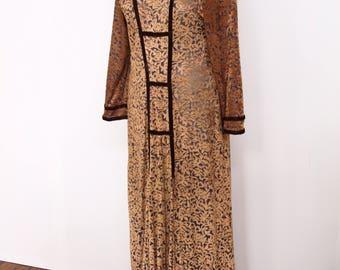 1960s 1970s devore velvet dress size M/L