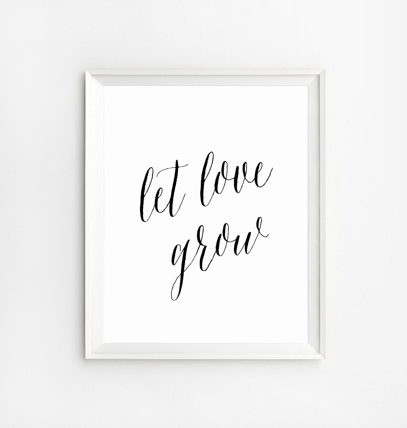 Love Art Quotes Let Love Grow Sign Love Quote Signs Wedding Day Signs Let