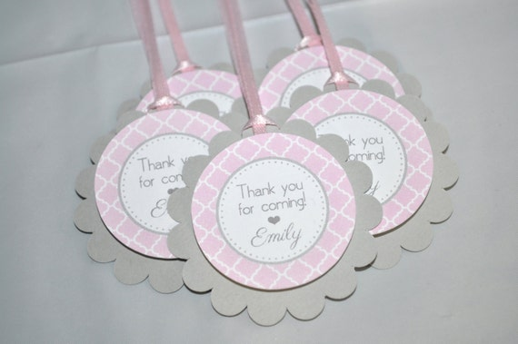 Girls Baby Shower Favor Tags Its A Girl Favors Pink