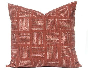 Euro Sham Pillow Cover- Decorative Pillow Covers - Rust Pillow - Couch Pillow Covers - Throw Pillow Cover - Designer Pillows - Plaid Pillow