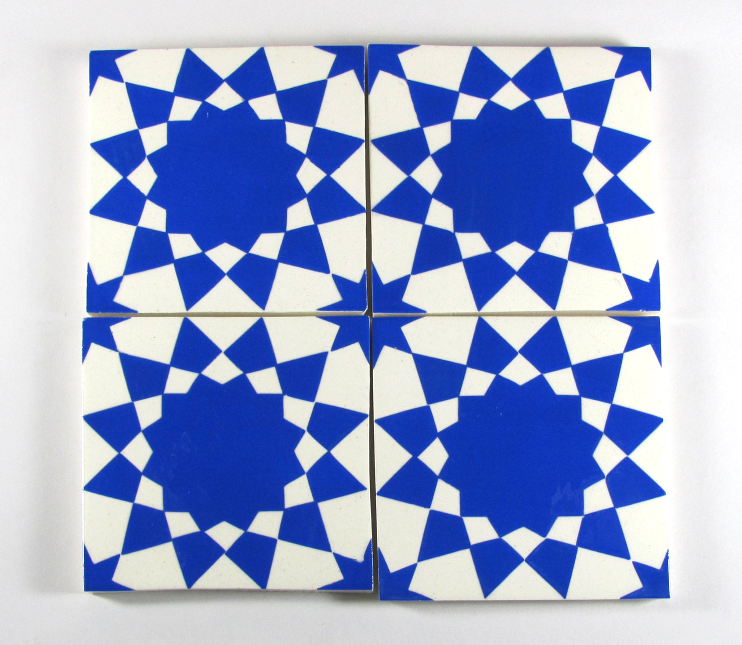Hand painted moroccan tiles blue and white ceramic tiles request a custom order and have something made just for you dailygadgetfo Gallery