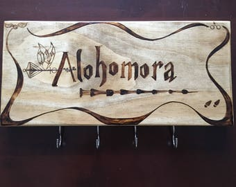 Harry Potter Inspired Alohomora Key Rack