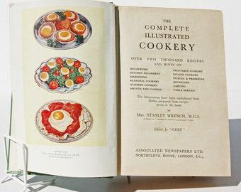 1930s Cookbook Illustrated Cooking Vintage recipes Paper ephemera food Book recipe history eating Foodie