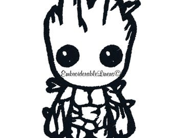 Baby Groot Embroidery Design-Baby Groot -Guardians of Galaxy-Machine Embroidery Designs - INSTANT DOWNLOAD