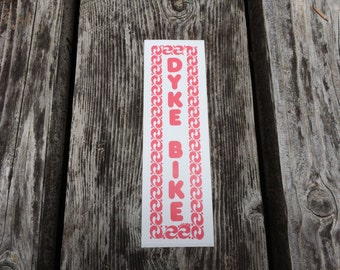 DYKE BIKE - Vintage Lesbian Feminist Bicycle Bumper Sticker