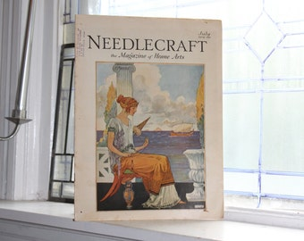 1929 Needlecraft Magazine July Issue Vintage 1920s Sewing