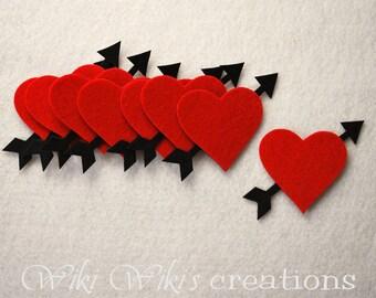 Heart & Arrow Die Cut - Pack of 8