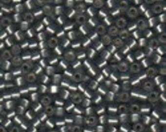MIYUKI #11 Delica 0697 - Semi Matte Silver Lined Grey - 5 grams