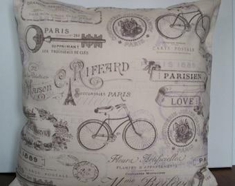 Paris theme pillow cover