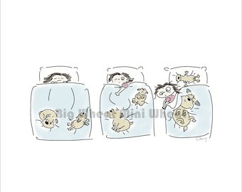 Every Night - Wheaten Terrier Print