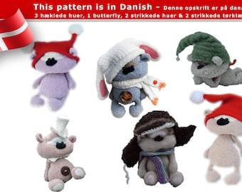 140DK 6 dukke og bamse hatte - Amigurumi hækle og strikke opskrift - PDF af Svetlana Pertseva