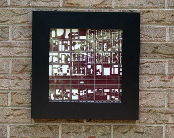 University of Chicago laser cut map