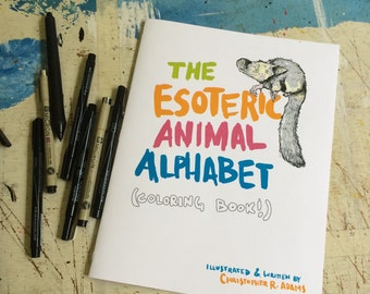 The Esoteric Animal Alphabet Coloring Book!