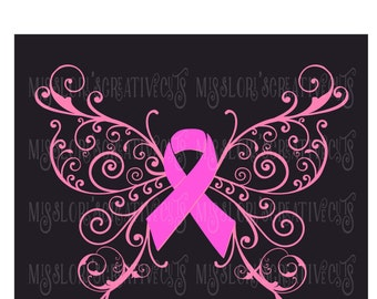 Cancer Butterfly Etsy