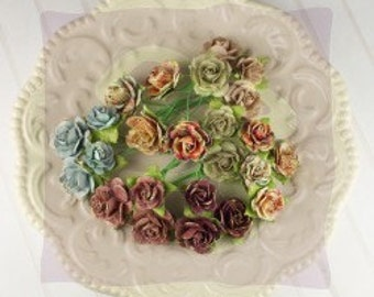 PRIMA Flower - ROMANTIQUE Avon Rose Mulberry Paper Flowers