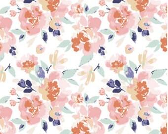Girls Crib Bedding -Girls Fitted Crib Sheets /Floral Changing Pad Covers /Crib Sheet /Pink Blue Crib Bedding /Mini Crib Sheet Peony Flowers