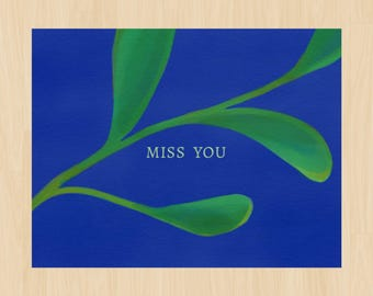 Miss You Card, Thinking of You, Friends Card, Friendship, Long Distance, Digital File, PDF file, Instant Download