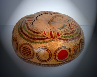 Abstract Basket Weave Decorated Gourd