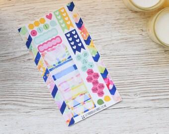 Flower Burst Personal Weekly Kit; Mini Kit; Vinyl Matt; Personal Filofax; Medium Kikki K; Summer Kit; Planner Stickers; TN Kit