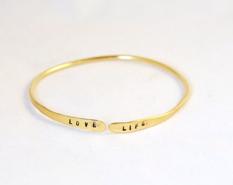 Personalized bracelet, Gold Filled hand stamped Bracelet/ Name  Bracelet with Personalized Stamping