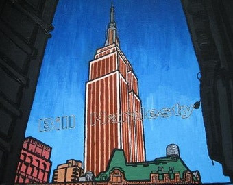DE PENN STATION New York - 8 x 10 pouces (20,5 X 25,5 cm) d'archives Art impression signée sur dos #FreeShipping livraison gratuite