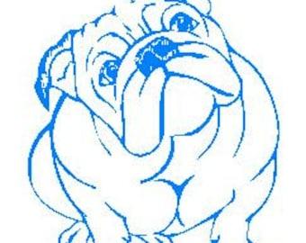 Bulldog Decal #3