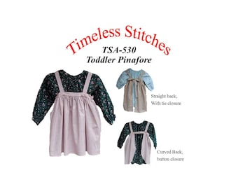 Guide to Victorian Civil War Costumes on a Budget Toddler Pinafore/Infant - Toddler Dress/ Timeless Stitches Sewing Pattern TSA-530 Toddler Pinafore DIGITAL DOWNLOAD $6.00 AT vintagedancer.com