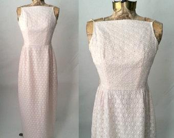 Vintage Dress, 1950s Dress, 50s Pink Dress, Vintage Pink Dress, Vintage Prom Dress, 50s Prom Dress, Retro 50s Lace Dress, Vintage Lace Dress