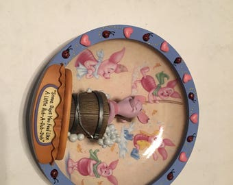 100 acre days collector plate piglet some days you feel like a little rub a dub dub