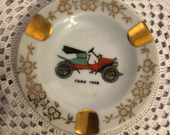 Limoges Ashtray, Vintage Car Buff, Vintage Ford, Limoges Made In Paris