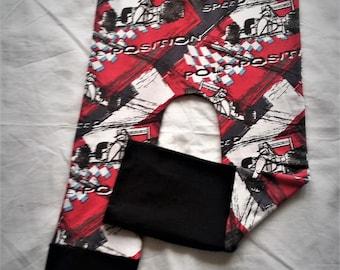 Evolutive pants for children 6-36 months fabric patterns d car of course.