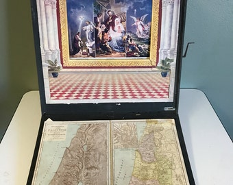 1896 Illuminated Life of Christ Scrolling Story