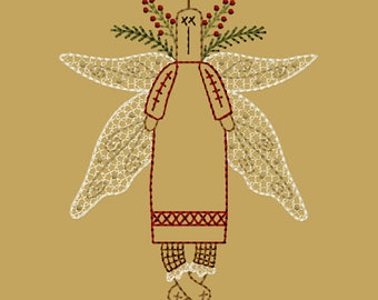 MACHINE EMBROIDERY-Morgan-Angel-5x7-Colorwork-Instant Download