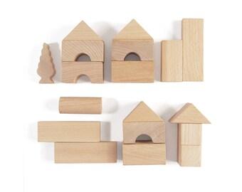 Wooden Blocks - Toddler Toy - Building Blocks - Wooden Baby Blocks - Wooden Toys - Toys For Toddler - Baby Gift - Organic Blocks