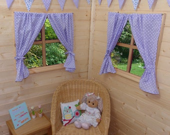 Lilac Dotty Playhouse Curtains