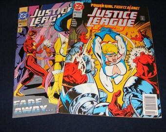 Lot 2 Justice League Comics, Comics, Comic Book, Vintage Comic Books, Old Comic Books