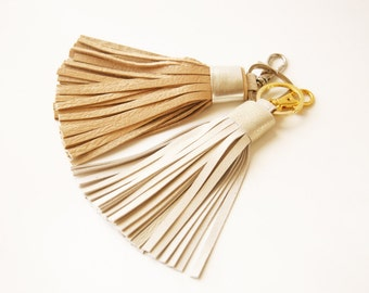 Leather Tassel Bag Charm Tassel Keychain Accessorie For Bag Tassel Charm