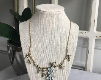 Vintage Inspired Crystal Necklace