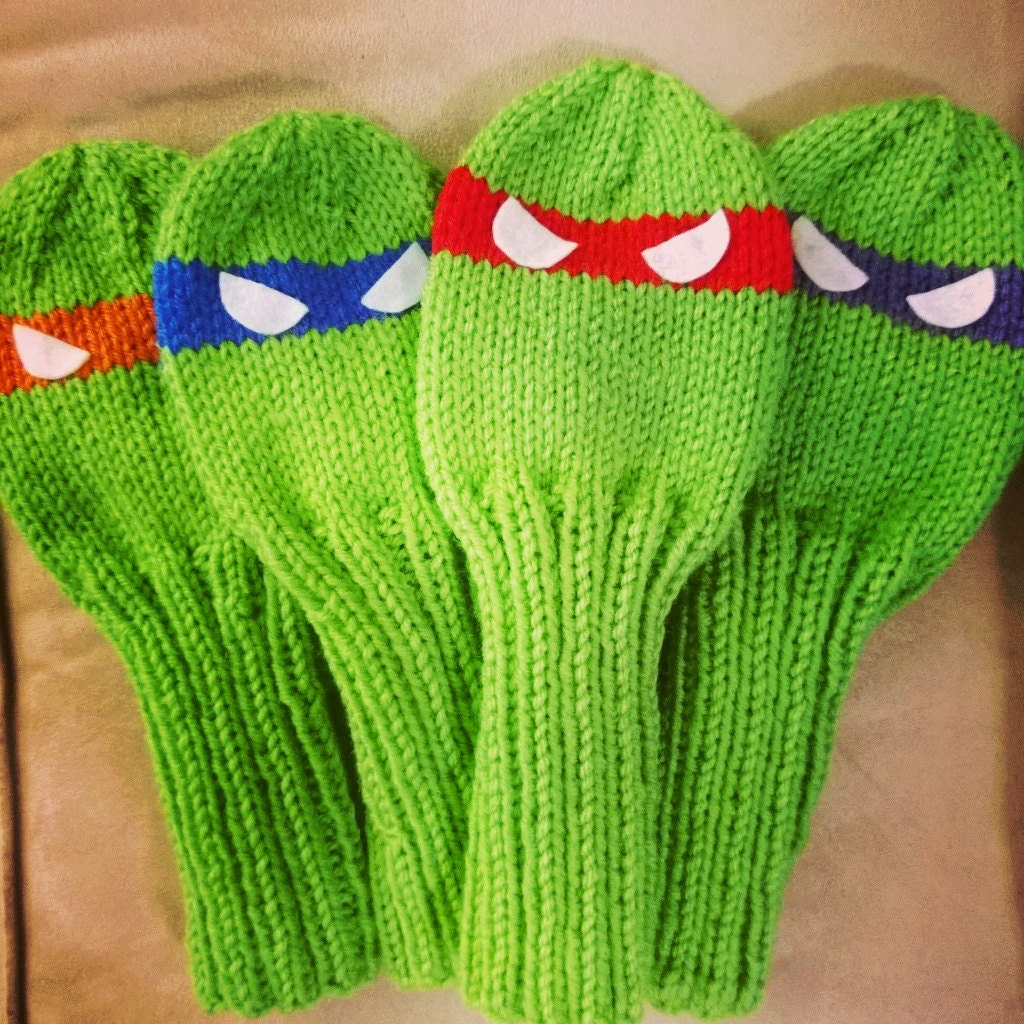 Pattern: Teenage Mutant Ninja Turtles Golf Club Cover