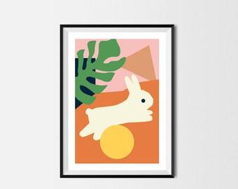 Rabbit Print A3