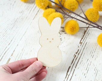 Peep Bunny Wood Cutout Easter Table Setting Easter Decor Easter Wood Crafts Easter Wreath Supplies