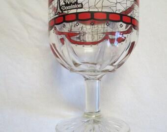 Kings Dominion Virginia Souvenir Glass Goblet in red & black Eiffel Tower Paramount Pictures Cedar Fair
