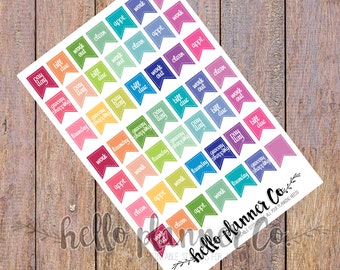 Daily Functional planner Stickers | chore planner stickers | weekly every day stickers | planner sticker essentials