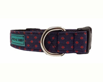 Vintage Dots - Dog Collar | Available in 4 widths