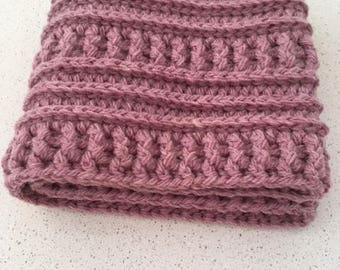 Cowl, Dusky Pink, Textured