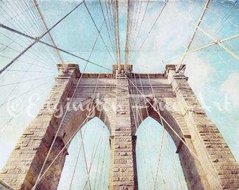 Architecture print Brooklyn Bridge New York City Print Brooklyn Print NYC photo New York Photography New York City New York City Decor 8x10