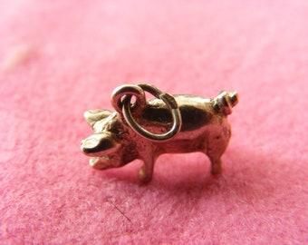 J) Vintage Sterling Silver Charm Porky Pig